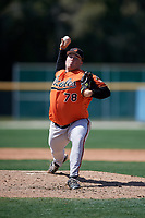 Baltimore Orioles pitcher Nick Jobst (78) delivers a pitch during a minor league Spring Training game against the Tampa Bay Rays on March 29, 2017 at the Buck O'Neil Baseball Complex in Sarasota, Florida.  (Mike Janes/Four Seam Images)