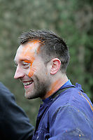 Pictured: Stephen Dobbie. Tuesday 25 January 2011<br /> Re: Swansea City FC footballers and staff have spend a morning at Teamforce Paintball in Llangyfelach near Swansea south Wales.