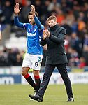 03.11.18 St Mirren v Rangers: Steven Gerrard and Connor Goldson