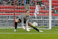 Chicago, IL - Saturday Sept. 24, 2016: Kelsey Wys prior to a regular season National Women's Soccer League (NWSL) match between the Chicago Red Stars and the Washington Spirit at Toyota Park.
