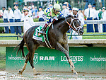 LOUISVILLE, KY - MAY 06: Always Dreaming #5, ridden by John Velazquez, wins the Kentucky Derby on Kentucky Derby Day at Churchill Downs on May 6, 2017 in Louisville, Kentucky. (Photo by Sue Kawczynski/Eclipse Sportswire/Getty Images)