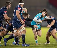 8th January 2021; AJ Bell Stadium, Salford, Lancashire, England; English Premiership Rugby, Sale Sharks versus Worcester Warriors; Oli Morris of Worcester Warriors attaching the Sale line