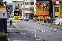 Tory Street at 1pm, Monday during Level 4 lockdown for the COVID-19 pandemic in Wellington, New Zealand on Monday, 30 August 2021.