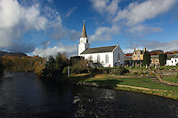 Comrie Church and the River Earn, Comrie, Perthshire<br /> <br /> Copyright www.scottishhorizons.co.uk/Keith Fergus 2011 All Rights Reserved