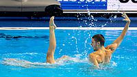 MINISINI Giorgio - FLAMINI Manila Italy ITA<br /> Gwangju South Korea 19/07/2019<br /> Artistic Swimming Mixed Duet Free Preliminaries<br /> 18th FINA World Aquatics Championships<br /> Yeomju Gymnasium <br /> Photo © Giorgio Scala / Deepbluemedia / Insidefoto