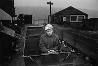 A miner in Alston, Cumbria working in Garrigill private coal drift, which remained open with 12 employees.