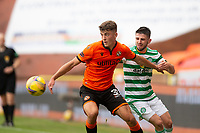 22nd August 2020; Tannadice Park, Dundee, Scotland; Scottish Premiership Football, Dundee United versus Celtic; Lewis Neilson of Dundee United shields the ball from Greg Taylor of Celtic