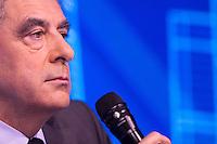 FRANCOIS FILLON ASSISTE AU FORUM DE LA FEDERATION NATIONALE DES TRAVAUX PUBLICS, LE 23 FEVRIER 2017 A PARIS.