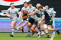 27th March 2021; Ricoh Arena, Coventry, West Midlands, England; English Premiership Rugby, Wasps versus Sale Sharks; Malakai Fekitoa of Wasps spills the ball