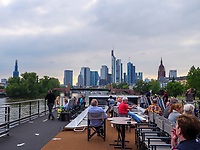Kreuzfahrtschiff NickoVision auf dem Main, Frankfurt, Hessen, Deutschland, Europa<br /> Cruise ship NickoVision on river Main, Frankfurt, Hesse, Germany, Europe