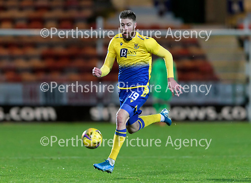 Dunfermline v St Johnstone…15.12.20   East End Park      BetFred Cup<br />Shaun Rooney <br />Picture by Graeme Hart.<br />Copyright Perthshire Picture Agency<br />Tel: 01738 623350  Mobile: 07990 594431