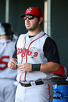 June 15th 2008:  Catcher C.J. Ebarb of the Lansing Lugnuts, Class-A affiliate of the Toronto Blue Jays, during a game at Dow Diamond in Midland, MI.  Photo by:  Mike Janes/Four Seam Images