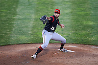 Richmond Flying Squirrels relief pitcher Christian Jones (23) during a game against the Erie SeaWolves on May 27, 2016 at Jerry Uht Park in Erie, Pennsylvania.  Richmond defeated Erie 7-6.  (Mike Janes/Four Seam Images)