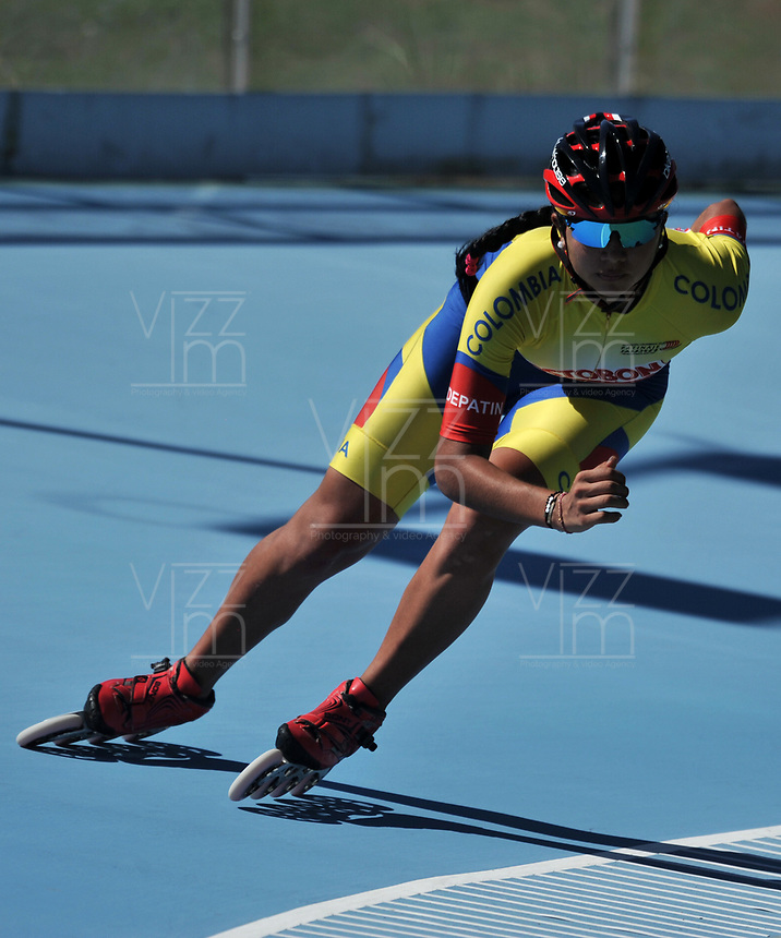 NANJING - CHINA - 23 - 08 - 2017: Maria Camila Rivera, patinadora de la Selección Colombia, durante entreno en el patinodromo Olimpico de Nanjing en la ciudad de Nainjing en La Republica Popular de China. /  Maria Camila Rivera, skater of the Colombia Team, during a training at the skating rink Olimpic Patinodromo of Nanjing in the city of Nanjing in People's Republic of China. / Photo: VizzorImage / Luis Ramirez / Staff.
