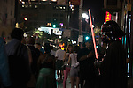 Darth Vader standing guard in front of Grauman's Chinese Theatre in Hollywood, Los Angeles, CA