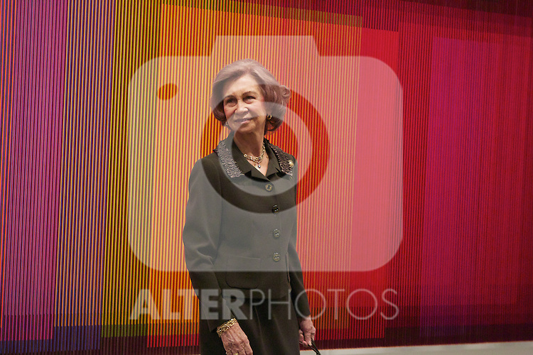 Spain's queen Sofia opens a new exposition at Reina Sofia Museum. January 22, 2013. (ALTERPHOTOS/Alvaro Hernandez)