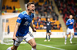 St Johnstone v Dundee….03.04.19   McDiarmid Park   SPFL<br />Callum Hendry celebrates his goal<br />Picture by Graeme Hart. <br />Copyright Perthshire Picture Agency<br />Tel: 01738 623350  Mobile: 07990 594431