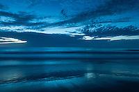 Dramatic blue ocean and sky at dawn, Outer Banks, North Carolina, USA