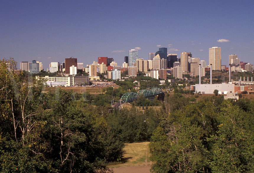 AJ3630, Edmonton, Alberta, Canada, Skyline of downtown Edmonton in the province of Alberta.