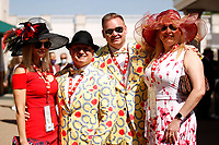1st May 2021; Kentucky, USA;  Couples get dressed when attending the 147th running of the Kentucky Derby on May 01st, 2021 at Churchill Downs in Louisville,  Kentucky, USA.