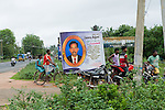 Huge posters on the road to announce birthdays, weddings, politics, deaths. 2015
