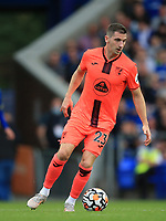25th September 2021; Goodison Park, Liverpool, England; Premier League football, Everton versus Norwich; Kenny McLean of Norwich City runs with the ball
