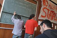 - State University occupied in protest against the school and university reform..- Università Statale occupata in protesta contro la riforma di scuola e università