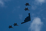 Military Flyover over New York during Independence Day