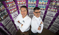 Dec. 8, 2015. Carlsbad,  CA. USA President and CEO of Milton's Baking/Milton's Crackers John Reaves, left, and President of Marketing and Innovation Simon Kyne, at their headquarters in Carlsbad.  Photos by Jamie Scott Lytle. Copyright.