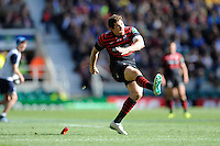 Alex Goode of Saracens takes a conversion attempt during the Heineken Cup semi-final match between Saracens and ASM Clermont Auvergne at Twickenham Stadium on Saturday 26th April 2014 (Photo by Rob Munro)
