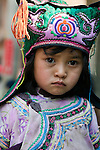 Young child in traditional attire, China