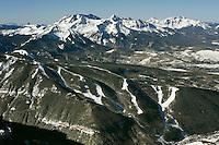 aerial of Telluride Ski