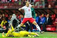04.09.2017, Warszawa, pilka nozna, kwalifikacje do Mistrzostw Swiata 2018, Polska - Kazachstan, Kamil Grosicki (POL), Yeldos Akhmetov (KAZ), Poland - Kazakhstan, World Cup 2018 qualifier, football, fot. Tomasz Jastrzebowski / Foto Olimpik<br /><br />POLAND OUT !!! *** Local Caption *** +++ POL out!! +++<br /> Contact: +49-40-22 63 02 60 , info@pixathlon.de