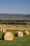Bales of hay, balloons and Rocky Mountains, Boulder, Colorado John offers private photo tours of Boulder, Denver and Rocky Mountain National Park.