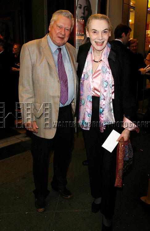 Marian Seldes & Brian Murray<br /> arriving for the Opening Night performance of The Roundabout Theatre Company's Broadway Production of PYGMALION at the American Airlines Theatre in New York City.<br /> October 18, 2007