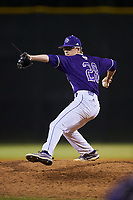 Western Carolina Catamounts relief pitcher Nick Hyde (28) in action against the St. John's Red Storm at Childress Field on March 12, 2021 in Cullowhee, North Carolina. (Brian Westerholt/Four Seam Images)