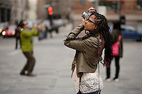 Montreal (QC) CANADA - April 2012  File photo - Model Release photo of a black teenage (17 years old) girl