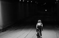 Eyeru Tesfoam Gebru (ETH) entering the black void<br /> <br /> Women Elite Individual Time Trial<br /> <br /> UCI 2017 Road World Championships - Bergen/Norway