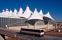 The exterior of the Denver international Airport. Colorado.
