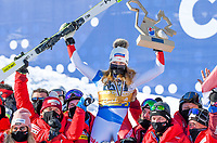13th February 2021, Cortina, Italy; FIS World Championship Womens Downhill Skiing;   Corinne Suter SUI Gold Medal and World Champion Cortina Beluno Italy