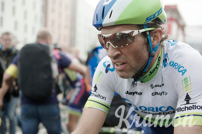 Michael Albasini (SUI/Orica-GreenEDGE) at the finish<br /> <br /> 2014 Tour de France<br /> stage 4: Le Touquet-Paris-Plage/Lille Métropole (163km)