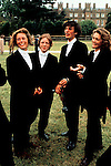 Eton College on the 550th anniversary of the school, 4 June 1990. The Queen visits for Founders Day and now Parents Day. <br /> Girls are sisters of Eton boys and all go to Millfield school in Somerset. <br /> Girls sisters dress up in brothers traditional school uniform UK Eton College.
