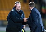 St Johnstone v Kilmarnock…24.11.18…   McDiarmid Park    SPFL<br />Steve Clarke and Tommy Wright shake hands at full time<br />Picture by Graeme Hart. <br />Copyright Perthshire Picture Agency<br />Tel: 01738 623350  Mobile: 07990 594431