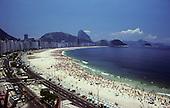 Rio de Janeiro, Brazil. Overview of Copacabana beach.