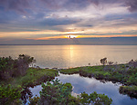 Cape Hatteras, North Carolina<br /> Sunset on Pamilco Sound
