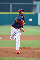 Clearwater Threshers pitcher Jose Taveras (28) during the Florida State League All-Star Game on June 17, 2017 at Joker Marchant Stadium in Lakeland, Florida.  FSL North All-Stars defeated the FSL South All-Stars  5-2.  (Mike Janes/Four Seam Images)