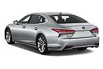 Car pictures of rear three quarter view of a 2019 Lexus LS 500h 4 Door Sedan angular rear