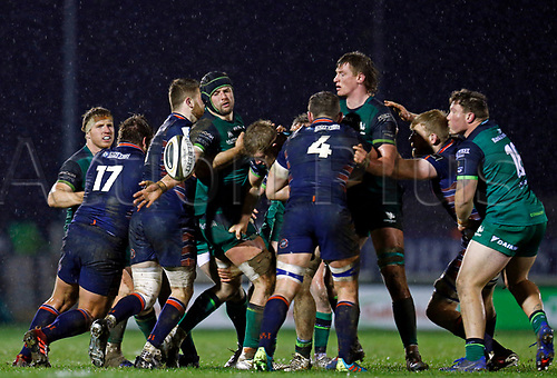 13th March 2021; Galway Sportsgrounds, Galway, Connacht, Ireland; Guinness Pro 14 Rugby, Connacht versus Edinburgh; Eoghan Masterson (Connacht) loses possession of the ball