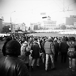 Mass rally against election fraud in central Moscow. Bolotnaya square, Moscow, Russia. February 4, 2012