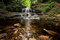 Onondaga Falls, an idyllic waterfall at the head of Glen Leigh in Ricketts Glen State Park in northeastern Pennsylvania.